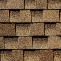Close up photo of GAF's Timberline HD Shakewood shingle swatch