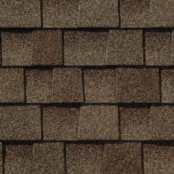 Close up photo of GAF's Timberline Natural Shadow Barkwood shingle swatch