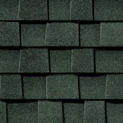 Close up photo of GAF's Timberline Natural Shadow Hunter Green shingle swatch