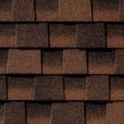 Close up photo of GAF's Timberline HD Hickory shingle swatch