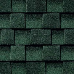 Close up photo of GAF's Timberline HD Hunter Green shingle swatch